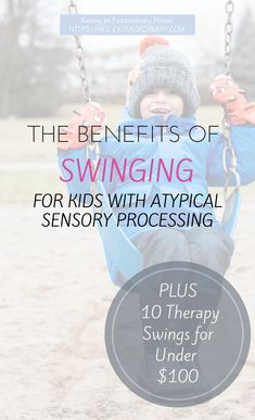 Swinging – a key component in sensory integration therapy, and an excellent way to give extra stimulation to the vestibular and proprioceptive systems. Children with SPD, autism, ADHD, etc. often benefit from vestibular input activities and proprioceptive input activities. There are so many benefits of swinging. Is your child hyperactive? Do they seem to always …