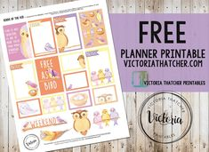 Birds of the Air free planner printable