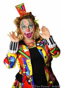 Clown facepaint Carnaval Schminken  Face Fantasy BodyArt
