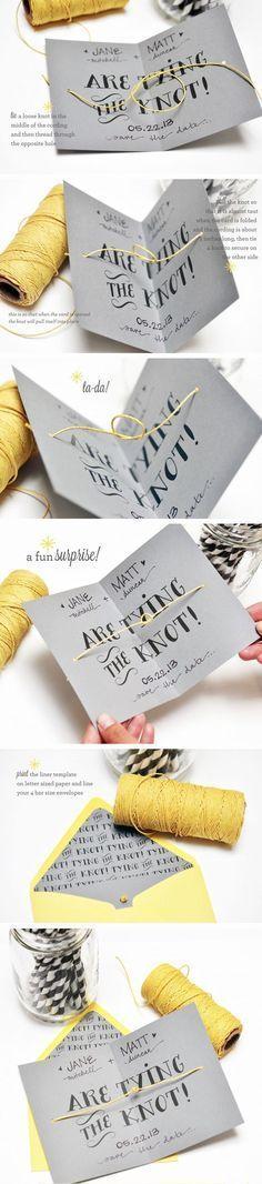 50 Unique DIY Wedding Invitation Ideas