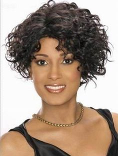 Beach Waves Hair short wigs | preferential short curly human hair wigs model lt wigs 040 price $ 49 ...  SHHHHH! It's a Wig......