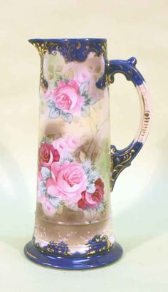 Nippon Tankard with Roses. 12h