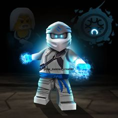 Here's zane the ice master ! Ninjago Jay, Lego Ninjago Lloyd, Ninjago Memes, Lego Ninjago Movie, Arte Ninja, Avatar Aang, Cute Disney, Disney Drawings, Lego City