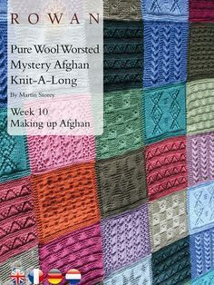 Pure Wool Worsted Mystery Afghan Knit-A-Long Week 10 Making Up - free pattern - Follow the Diagram to put all the pieces of the puzzle together to create your very own fantastic Afghan - knitted squares blanket (hva)