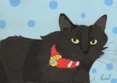 """I only have 2 January spots left for pet portrait orders! Order yours today to be guaranteed arrival by Valentine's Day! Portraits are hand-sketched (option to color is FREE!) and printed on 8 1/2"""" x 11"""" quality canvas. Message me for prices and more info! Here is a recent portrait I created:"""