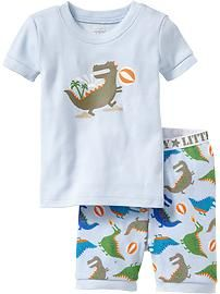 Dino-Beach PJ Sets for Baby