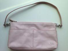 Ralph-Lauren-Leather-Purse-Pale-Pink-Shoulder-Handbag-Excellent-Condition