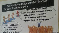 colectivos chavistas   Afiche que muestra a miembros de los colectivos paramilitares cómo ...