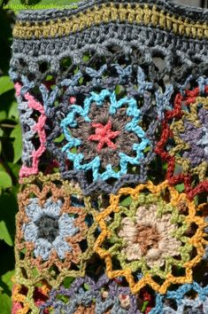 Flower Crochet, Crochet Bags, Blanket, My Love, Products, Handmade Bags, Knit Bag, Totes, Tejidos