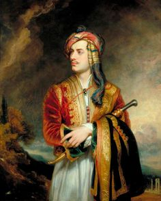 Lord Byron in Albanian dress after the painting by Thomas Phillips in 1813 George Gordon Byron Baron Byron later George Gordon Noel Baron Byron 1788 Canvas Art - Ken Welsh Design Pics x 3 Lord Byron, Frankenstein, Dylan Thomas, Romantic Writers, Sibylla Merian, Newcastle, Dress Painting, Mary Shelley, Portraits