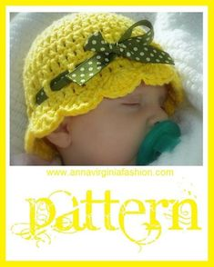 So cute! May need to make some of these. AnnaVirginia Fashion: Baby Flapper-Girl Hat *Free Pattern*