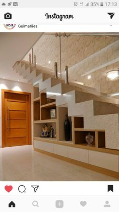 Stair for tiny house ideas stair shelves, staircase storage, loft stair House Design, Interior Stairs, Stair Decor, Staircase Decor, Home Stairs Design, House Staircase, House Interior, Home Interior Design, House Interior Decor