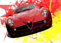 alfaromeo 8c car