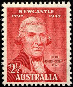 Australia 1947 - Anniversary of City of Newcastle - Lt. Australian Painting, Australian Vintage, Going Postal, Beautiful Moon, Commonwealth, Stamp Collecting, World History, Lorraine, Newcastle