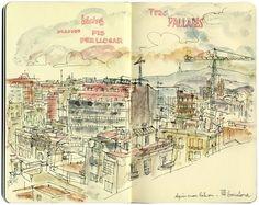 Urban Sketchers: Meet the correspondents: BARCELONA > Lapin