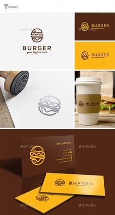 Burger Logo  — PSD Template #inspiration #website #brand • Download ➝ https://graphicriver.net/item/burger-logo/18705297?ref=pxcr