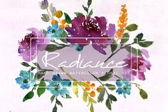 Radiance-Watercolor Clip Art by SmallHouseBigPony on @creativemarket