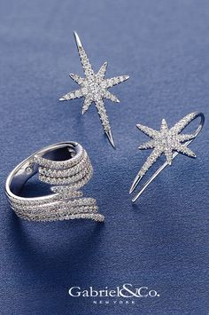 O Star of wonder, star of night! Star with royal beauty bright! Add these gorgeous fine jewelry pieces onto your wish list this Holiday season. From diamond earrings to unique rings, Gabriel & Co. has the perfect jewelry gifts available to shop at your local retailer.