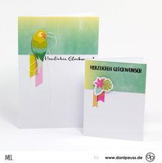 """Glückwunschkarte für Anfänger mit dem Karten Sonderkit """"Happy Birthday"""" von www.danipeuss.de Scrapbooking Kartenbasteln Memorykeeping Klartextstempel Stempeln"""