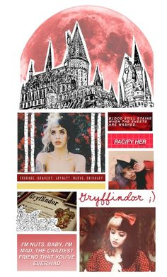 """Gryffindor Melanie Martinez"" by wicked-elsa ❤ liked on Polyvore featuring ferm LIVING"