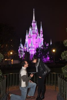Too cute! Its always been my dream proposal to have it done in from of cinderella's castle in disneyworld : )