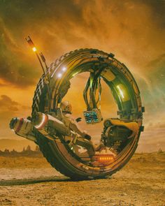 Art featuring all things futuristic. Whether it's retro or advanced technology, utopian cityscapes or ruined warscapes, if there's a Sci-Fi. Futuristic Motorcycle, Futuristic Art, Monocycle, Science Fiction Kunst, Cyberpunk Art, Retro Futurism, Sci Fi Fantasy, Sci Fi Art, Dieselpunk