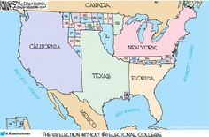 The 'United' States Of America (Without The Electoral College) | Zero Hedge