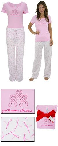 Never Walk Alone Pajama Set at The Breast Cancer Site