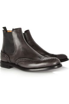 Church's Ketsby textured-leather Chelsea boots. These are Paddock Boots. Paddock Boots are not fashion.