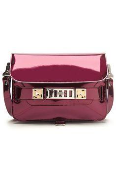 Proenza Schouler PS11 Mini Classic Bag in plum.