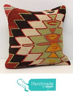 Throw kilim pillow cover 16x16 inch (40x40 cm) Decorative Boho kelim pillow cover Home Decor Natural Pillow cover Garden decor Kilim Cushion Cover from Kilimwarehouse https://www.amazon.com/dp/B06ZY5SJBR/ref=hnd_sw_r_pi_dp_zus9yb81D8YAK #handmadeatamazon