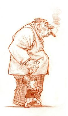 Walk with grandpa by Wouter Tulp