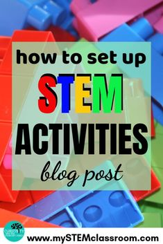 As we start the new school year I'd like to show you how I set up my STEM classroom ready for my STEM or STEAM activities. For the first STEM lesson of the year I don't start with my units of work, which I've planned out and aligned to the curriculum. Science Resources, Science Lessons, Teaching Science, Teaching Kids, Teaching Resources, Science Experiments, Stem Teaching, Science Activities, Kindergarten Stem