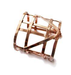 Geometric Jewelry  Half Automaton Copper Cuff  by jamiespinello, $65.00