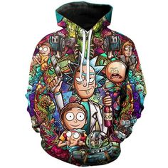 HEHE TAN Mens Pullover Hood Astronaut Fantasy Zip Hoodies Hooded Classic Jackets Coats