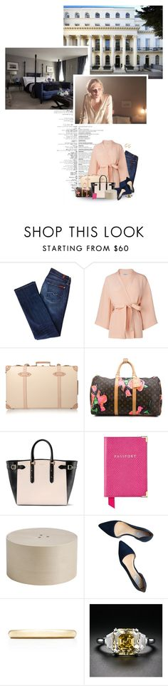 """(V) Helps her sister-in-law pack for the trip to France to commemorate the Battle of the Somme"" by immortal-longings ❤ liked on Polyvore featuring womb, 7 For All Mankind, L.K.Bennett, Globe-Trotter, Louis Vuitton, Aspinal of London, HAY, Cole Haan and Tiffany & Co."