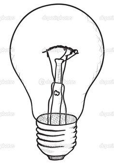 bulb simple sketch vector drawing drawings technical illustration lamp draw sketches stockfresh pzaxe lighting bulbs cool geometric mirror imgbuddy lightbulbs