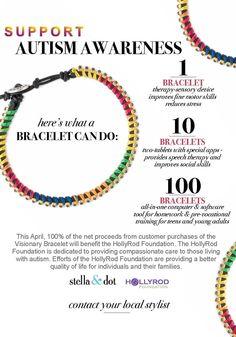Stella & Dot Visionary bracelet ($39) 100% of net proceeds benefit HollyRod Foundation #autismawareness #autismcompassion #RJsplace #shopforacause