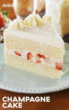 Best-Ever champagne cake recipe cakes/desserts торт, кулинар No Bake Desserts, Just Desserts, Delicious Desserts, Yummy Food, Food Cakes, Cupcake Cakes, Baking Recipes, Cake Recipes, Yummy Treats