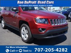 2016 *Jeep*  *Compass* *Sport*  23k miles Call for Price 23583 miles 707-205-4282 Transmission: Automatic  #Jeep #Compass #used #cars #RonDuprattUsedCars #Vacaville #CA #tapcars