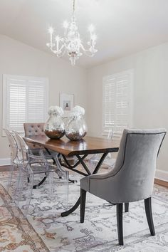Love The Ghost Chairs. Traditional Dining Rooms, Formal Dining Rooms,  Dining Room Inspiration