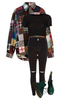 """mess around"" by soccermom666 ❤ liked on Polyvore featuring Topshop, River Island and Dr. Martens"