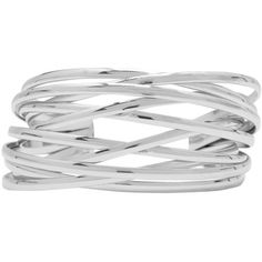 M&Co Lattice Wrap Cuff Bracelet ($13) ❤ liked on Polyvore featuring jewelry, bracelets, silver, silver cuff bracelet, wrap jewelry, silver bangles, hinged cuff bracelet and cuff bangle