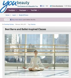 Ballet Beautiful in Dr. Oz's fabulous beauty blog YouBeauty.com. The Swan Arms workout is ranked top in Ballet-inspired fitness