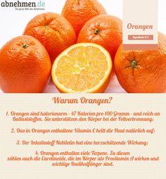 Orangen machen gute Laune! Die Zitrusfrüchte liefern auch Vitamin B. Das hilft dem Gehirn, das Glückshormon Serotonin herzustellen.