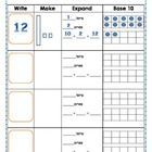 This is a math activity that I created to use with my kindergarten kiddos that helps reach many of the common core standards:  Base 10 - composing a...