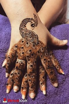 Best Mehndi Designs for Hands Fingers. You can easily make mehndi designs on your hands feet step by step. Peacock Mehndi Designs, Simple Arabic Mehndi Designs, Henna Art Designs, Mehndi Designs For Girls, Mehndi Designs 2018, Modern Mehndi Designs, Dulhan Mehndi Designs, Mehndi Designs For Fingers, Wedding Mehndi Designs