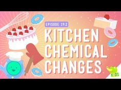 """Chemical Changes: Crash Course Kids by thecrashcourse: """"We've talked about mixtures and solutions, solutes and solvents, but what about things that can't be undone? What about Chemical Changes? Student Teaching, Teaching Science, Science Education, Teaching Ideas, Teaching Tools, Teaching Resources, Chemical Science, Science Chemistry, Kitchen Chemistry"""
