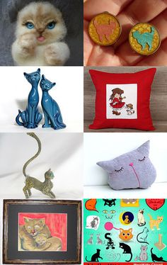 Cats on etsy by Verofibre on Etsy--Pinned with TreasuryPin.com