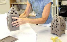 Fantastic site with great ideas and videos. making clay lantern handbuilding class- curving clay